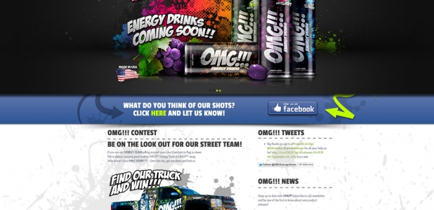 OMG!!! Energy Shots by REKLAMDESIGN