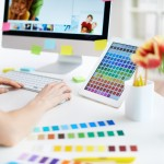 Designer Working With Colors