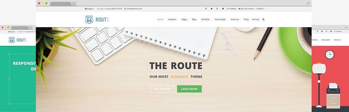 Header Version 7 – Route Multi-Purpose WordPress Theme